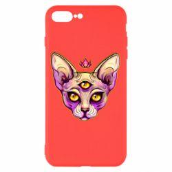Чохол для iPhone 8 Plus Котик сфінкс рожевий