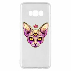 Чохол для Samsung S8 Котик сфінкс рожевий