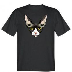 Чоловіча футболка Котя сфінкс жовті очі