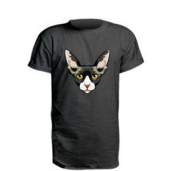 Подовжена футболка Котя сфінкс жовті очі