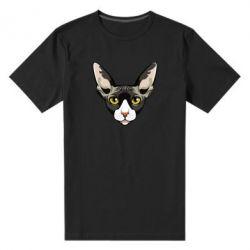 Чоловіча стрейчева футболка Котя сфінкс жовті очі