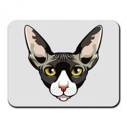 Килимок для миші Котя сфінкс жовті очі