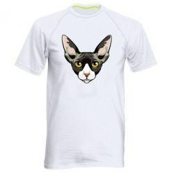 Чоловіча спортивна футболка Котя сфінкс жовті очі