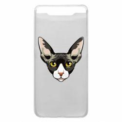 Чохол для Samsung A80 Котя сфінкс жовті очі
