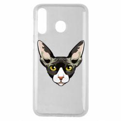 Чохол для Samsung M30 Котя сфінкс жовті очі