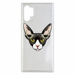 Чохол для Samsung Note 10 Plus Котя сфінкс жовті очі