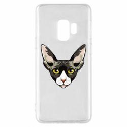 Чохол для Samsung S9 Котя сфінкс жовті очі