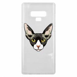 Чохол для Samsung Note 9 Котя сфінкс жовті очі