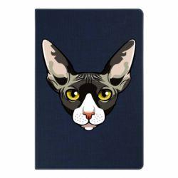 Блокнот А5 Котя сфінкс жовті очі