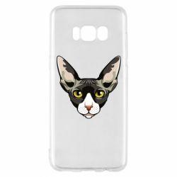 Чохол для Samsung S8 Котя сфінкс жовті очі