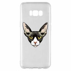 Чохол для Samsung S8+ Котя сфінкс жовті очі