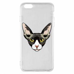 Чохол для iPhone 6 Plus/6S Plus Котя сфінкс жовті очі