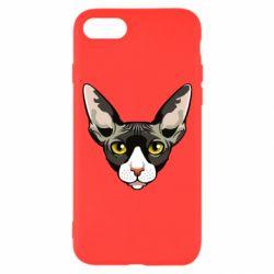 Чохол для iPhone 7 Котя сфінкс жовті очі