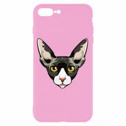 Чохол для iPhone 8 Plus Котя сфінкс жовті очі