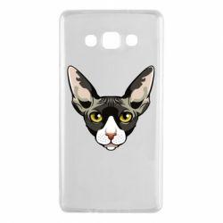 Чохол для Samsung A7 2015 Котя сфінкс жовті очі