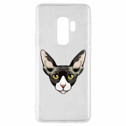 Чохол для Samsung S9+ Котя сфінкс жовті очі