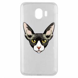 Чохол для Samsung J4 Котя сфінкс жовті очі