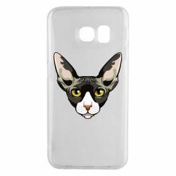 Чохол для Samsung S6 EDGE Котя сфінкс жовті очі