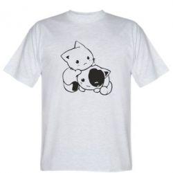Мужская футболка кошенята - FatLine
