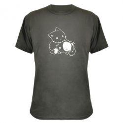 Камуфляжна футболка кошенята - FatLine