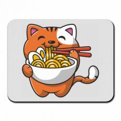 Килимок для миші Cat and Ramen