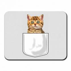 Коврик для мыши Cat in your pocket