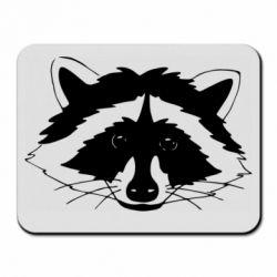Килимок для миші Cute raccoon face