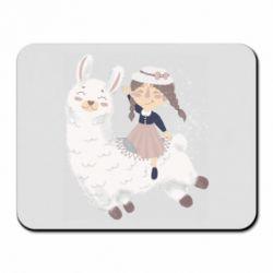 Килимок для миші Girl with a lama