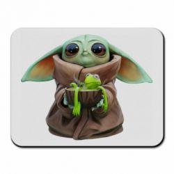 Килимок для миші Grogu and Kermit