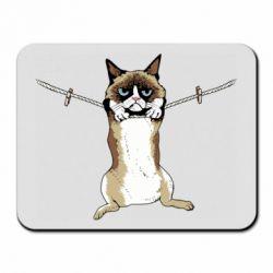 Коврик для мыши Grumpy Cat On The Rope