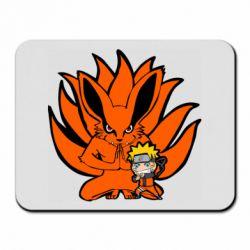 Килимок для миші Kurama And Naruto