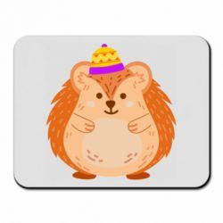 Килимок для миші Little hedgehog in a hat