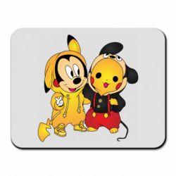 Коврик для мыши Mickey and Pikachu