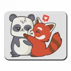 Килимок для миші Panda and fire panda