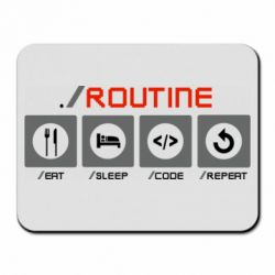 Килимок для миші Routine code