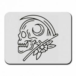 Килимок для миші Skull with scythe