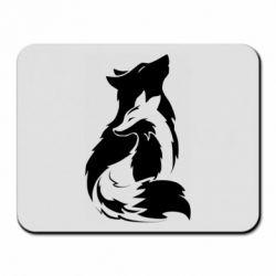 Коврик для мыши Wolf And Fox
