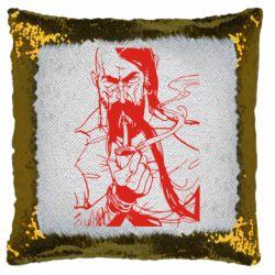 Подушка-хамелеон Козачина з люлькою