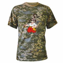 Камуфляжная футболка Козачок - FatLine