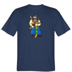 Мужская футболка Козак и ак-47 - FatLine