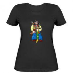 Женская футболка Козак и ак-47 - FatLine