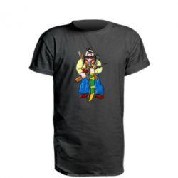 Удлиненная футболка Козак и ак-47 - FatLine