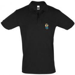 Мужская футболка поло Козак и ак-47 - FatLine