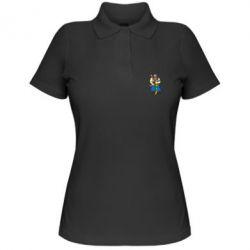 Женская футболка поло Козак и ак-47 - FatLine