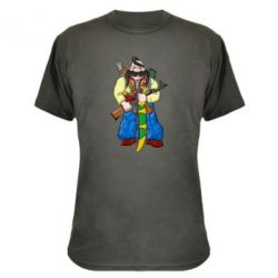 Камуфляжная футболка Козак и ак-47 - FatLine