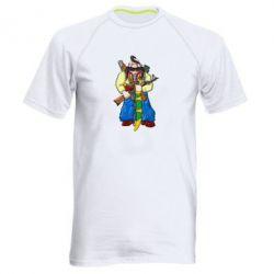 Мужская спортивная футболка Козак и ак-47 - FatLine