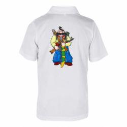Детская футболка поло Козак и ак-47 - FatLine