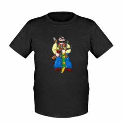 Детская футболка Козак и ак-47 - FatLine