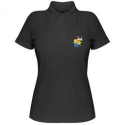 Жіноча футболка поло Козак і муха
