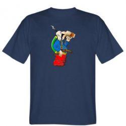 Чоловіча футболка Козак п'є пиво